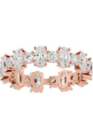 SuperJeweler Women Rings - 14K (3.65 g) 3 1/2 Carat Oval & Round Diamond Eternity Ring (
