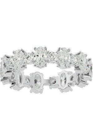SuperJeweler 14K (3.20 g) 3 1/2 Carat Oval & Round Diamond Eternity Ring (