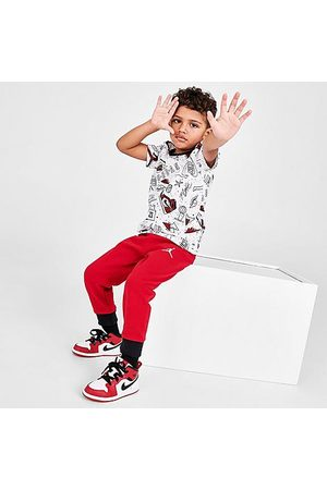 Jordan Boys' Toddler Flight AOP T-Shirt and Jogger Pants Set in /
