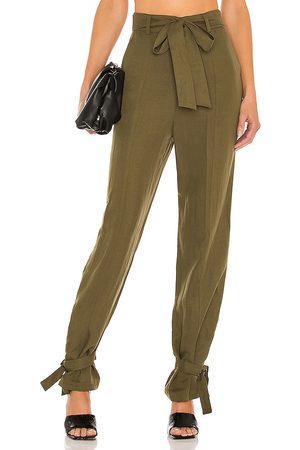 Lovers + Friends Denny Pant in Olive.