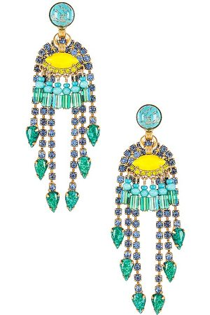 ELIZABETH COLE Meg Earrings in Turquoise.