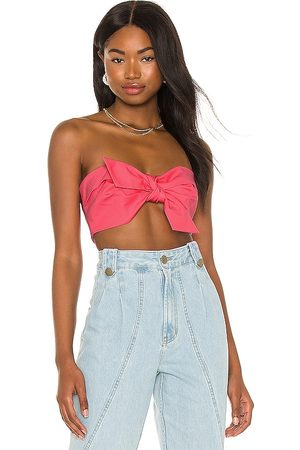 IORANE Compact Cotton Knot Crop Top in .