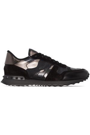 VALENTINO GARAVANI Rockrunner metallic camouflage-print sneakers