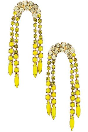 ELIZABETH COLE Asa Earrings in Yellow.