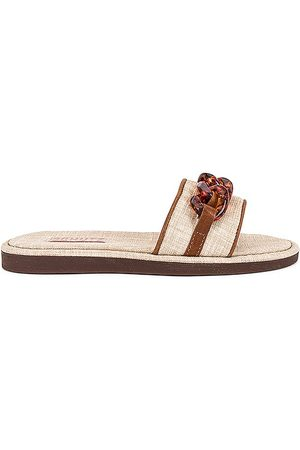 Schutz Women Sandals - Belah Slide in Neutral.