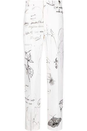 Alexander McQueen Men Formal Pants - Sketchbook tailored trousers