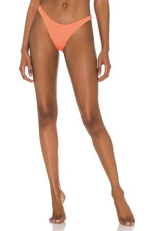 Vitamin A California High Leg Bikini Bottom in Coral.