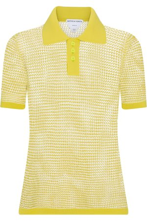 Bottega Veneta Women Polo Shirts - Cotton-blend knit polo shirt