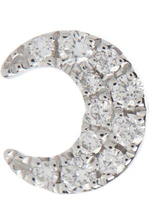 Maria Tash Women Earrings - Diamond Moon Small 18kt white single earrings with white diamonds