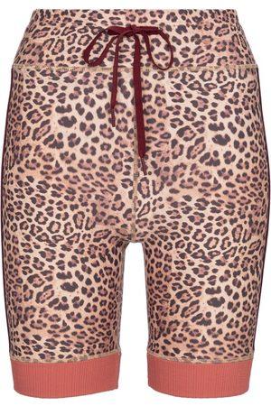 The Upside Spin leopard-print biker shorts