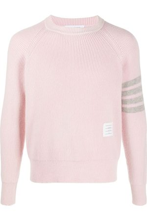 Thom Browne Men Sweatshirts - Garment-dyed 4-bar pullover