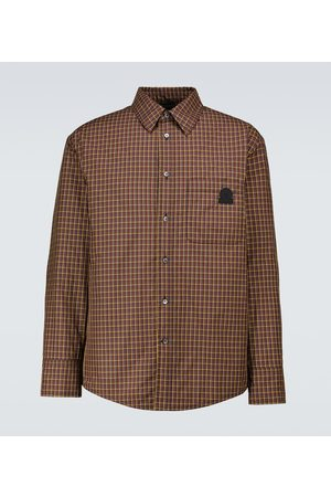 Lanvin Men Shirts - Checked technical shirt