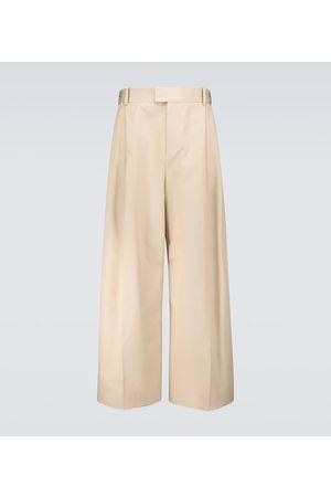 Bottega Veneta Men Formal Pants - Wide-leg cotton twill pants