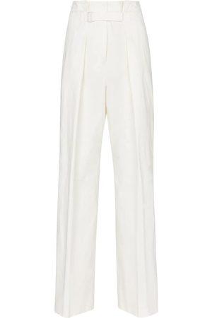 Jil Sander High-rise wide-leg cotton-blend pants