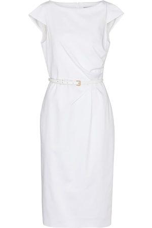 Max Mara Zic belted cotton midi dress