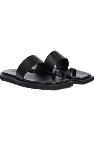 Rick Owens Women Sandals - Bevel leather slides