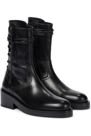 ANN DEMEULEMEESTER Women Ankle Boots - Leather ankle boots