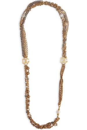 Dolce & Gabbana Women Necklaces - Logo plaque multi-chain necklace - 87562 TWO-COLOR