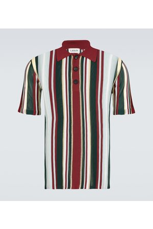 Lanvin Men Polo Shirts - Striped polo shirt