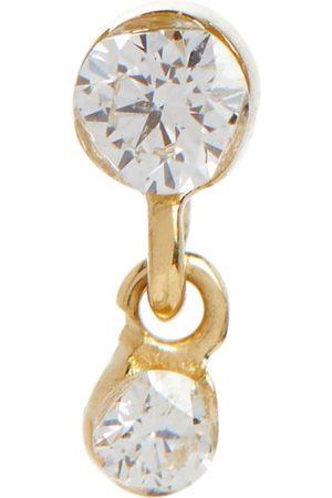 Maria Tash Women Earrings - Invisible 14kt yellow single drop earring with white diamonds
