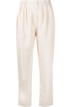 FORTE FORTE Relaxed fit linen trousers - Neutrals