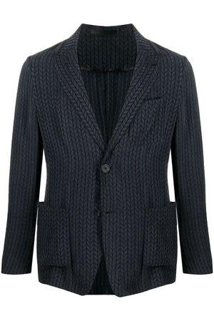Armani Men Blazers - Textured-chenille blazer