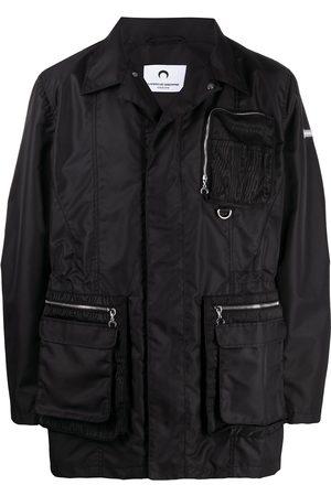 Marine Serre Men Jackets - Zip-pocket jacket