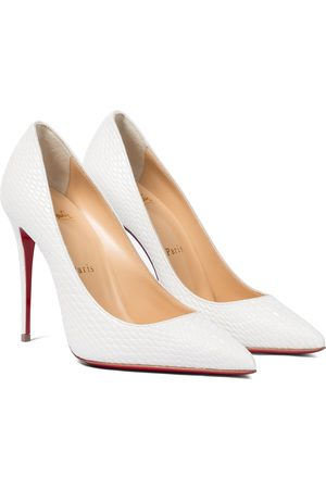 Christian Louboutin Women Pumps - Kate 100 snake-effect leather pumps