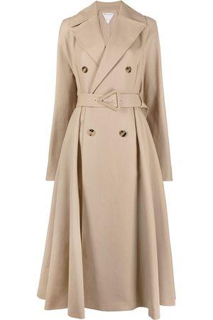 Bottega Veneta Women Trench Coats - Double-breasted belted trench coat - Neutrals