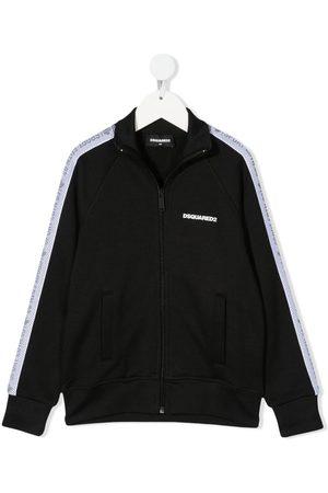 Dsquared2 Boys Bomber Jackets - Logo-trim track jacket