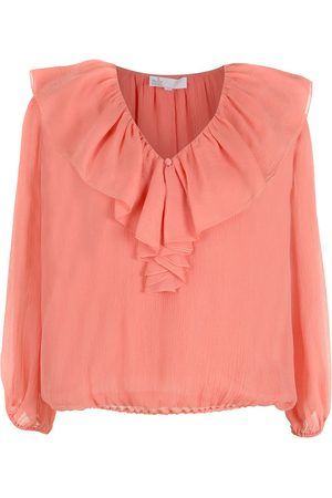 NK Women Blouses - Silk ruffled blouse - Pi