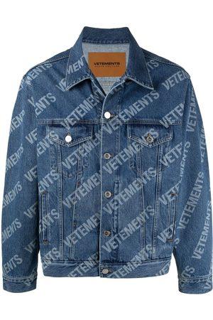 Vetements Denim Jackets - Logo-print denim jacket
