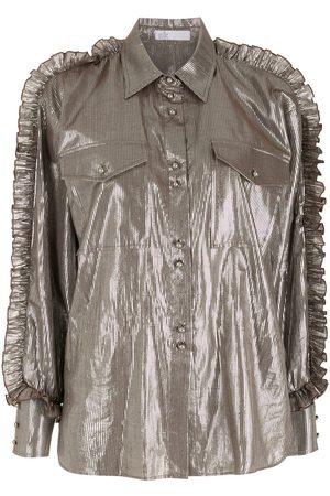 NK Ruffled metallic shirt