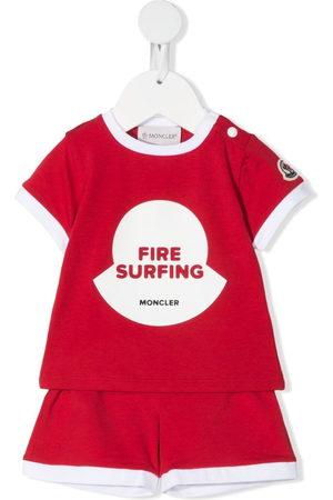 Moncler Fire surfing-print short set