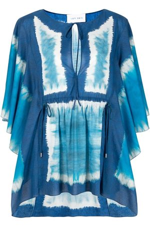 Alberta Ferretti Women Beachwear - Panelled cotton beach cover-up