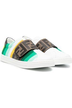 Fendi Logo-strap sneakers