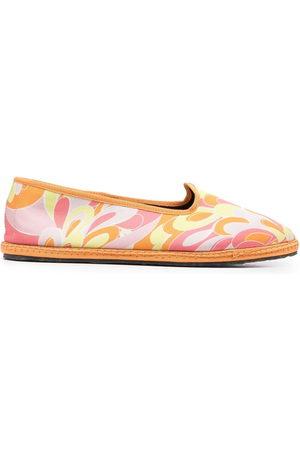 Emilio Pucci Women Ballerinas - Lilly-print ballerina shoes