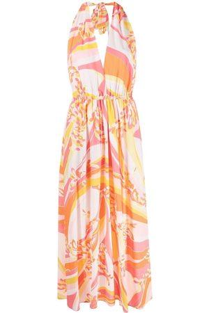 Emilio Pucci Lily print halterneck dress