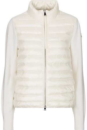 Moncler Quilted down and wool cardigan