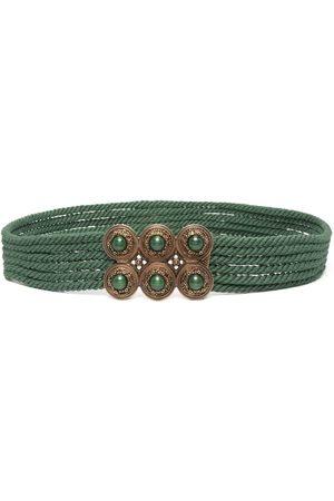 Etro Stone-embellished rope-detail belt