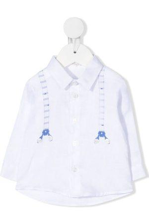 Le Bebé Enfant Shirts - Graphic-print linen shirt