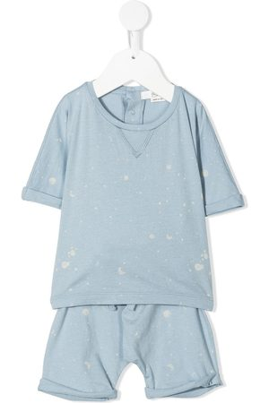 BONPOINT Sets - Moon-print cotton top and short set