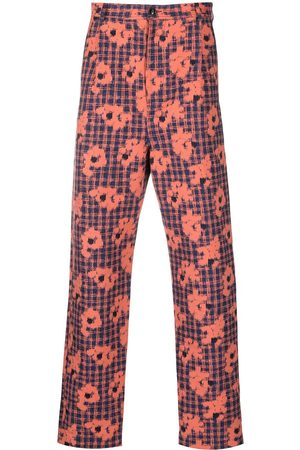 HENRIK VIBSKOV Floral-print slim-cut trousers