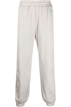 KOCHÉ Men Sweatpants - Jacquard sweatpants - Neutrals