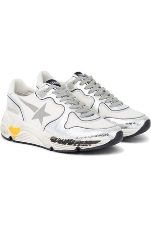 Golden Goose Running Sole leather-trimmed sneakers