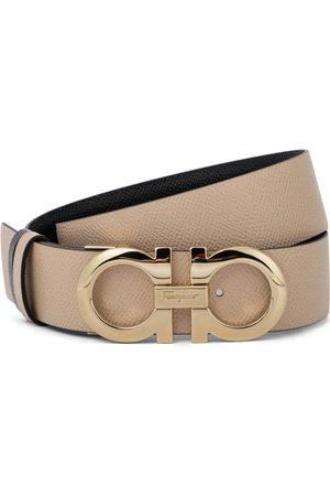 Salvatore Ferragamo Women Belts - Gancini reversible leather belt