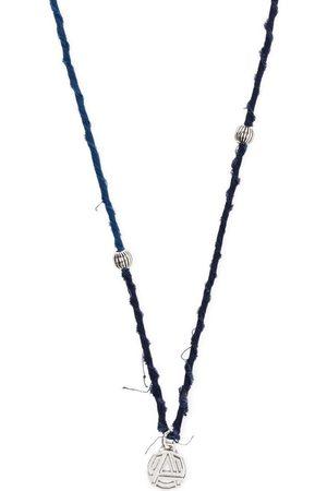 AMBUSH Logo-pendant braided necklace