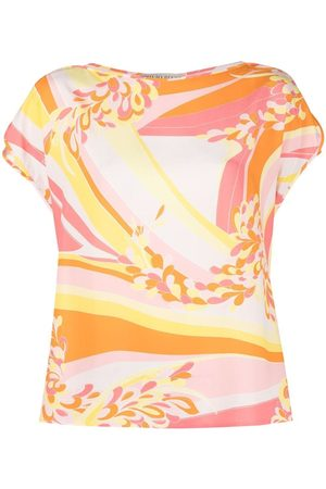 Emilio Pucci Lilly-print boat-neck blouse