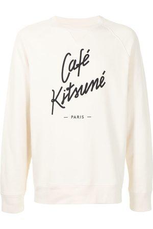 Maison Kitsuné Logo print crew-neck sweatshirt