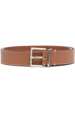 Maison Margiela Buckle grained leather belt